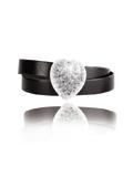 bracelet-cuir-noir-2-tour-coeur-cardissa-noir-v - Cardissa -Luxury Jewelry\'s Cup - Golf Club Lys Chantilly