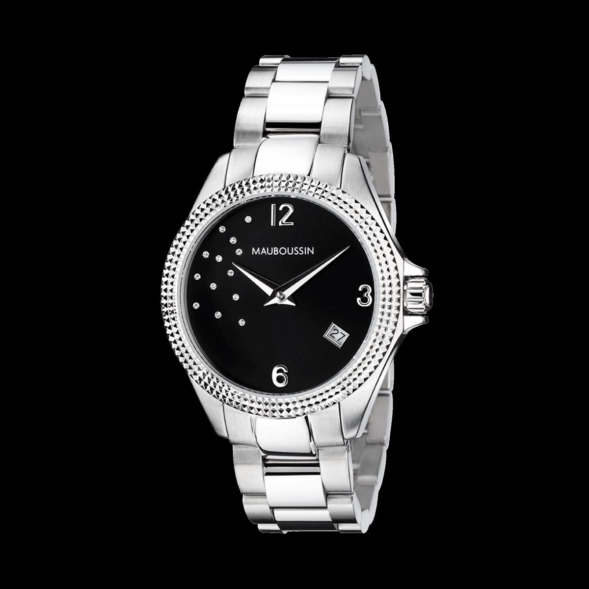 montre-mauboussin-l-heure-de-paix-immédiate-acier-cadran-noir-et-diamant-n15