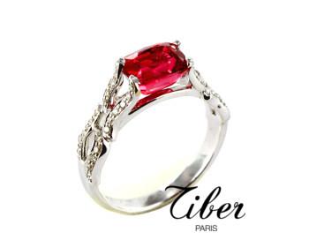 bijoux-tiber-bague-spinelle-rouge-diamants-or-blanc-flammes